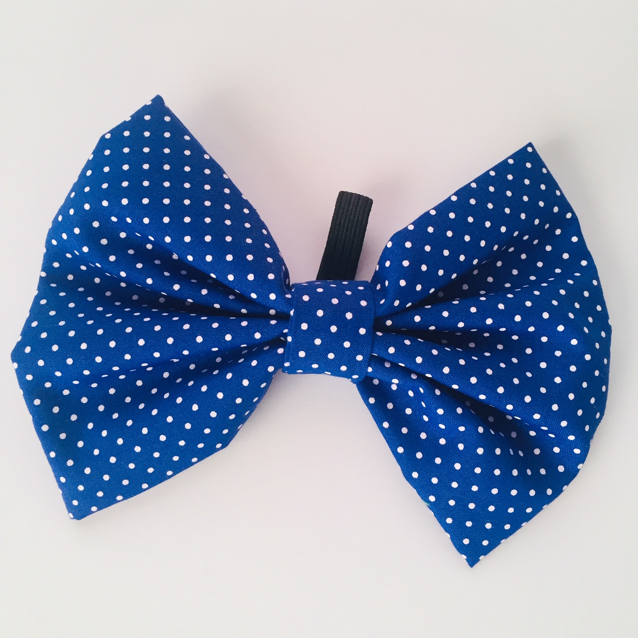 Corbatin Azul puntos blancos