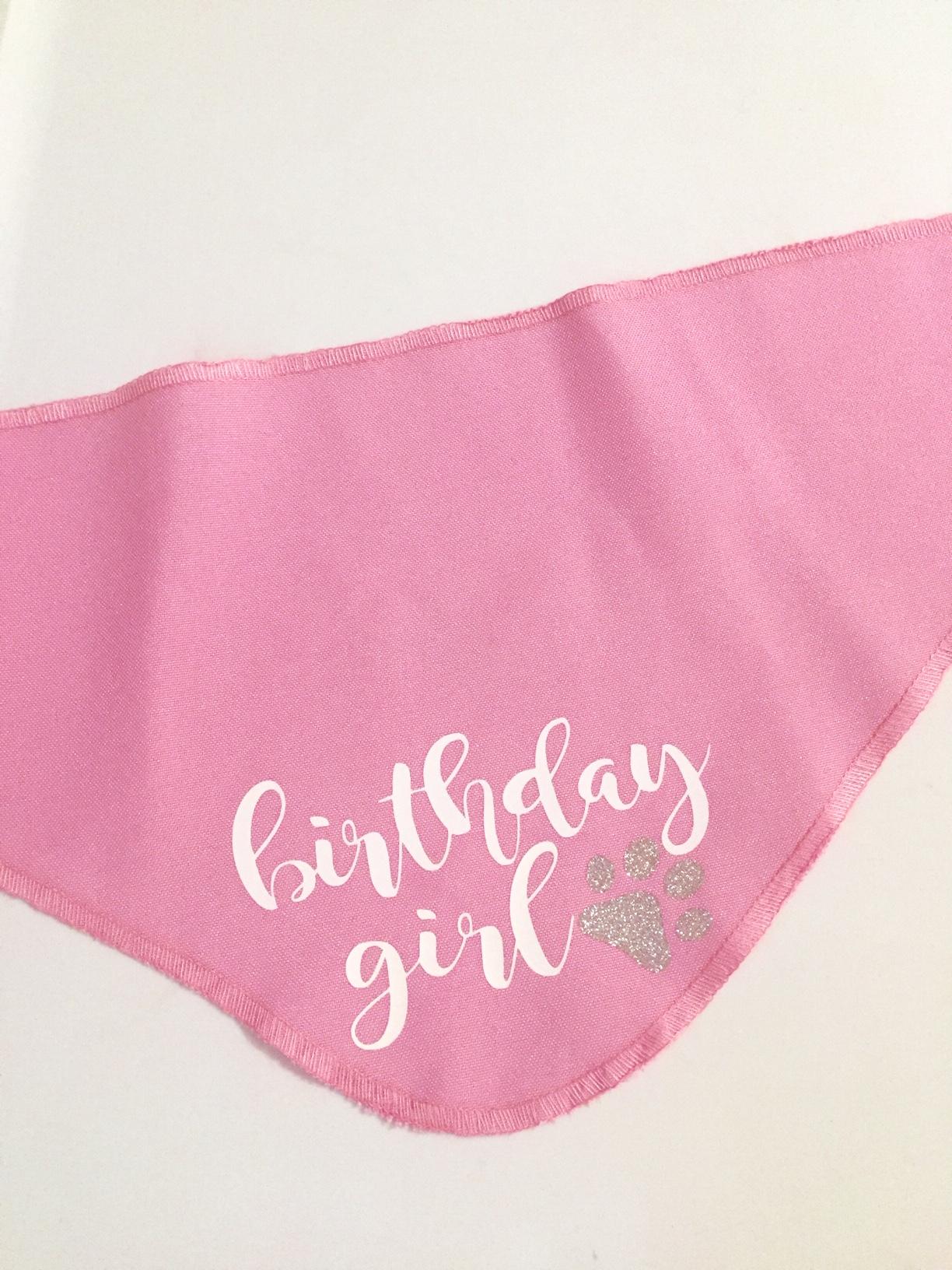 Bandana Birthday Girl Rosada